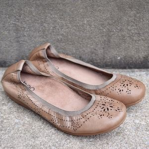 Abeo BIO Tamra Taupe Leather Ballet Flats